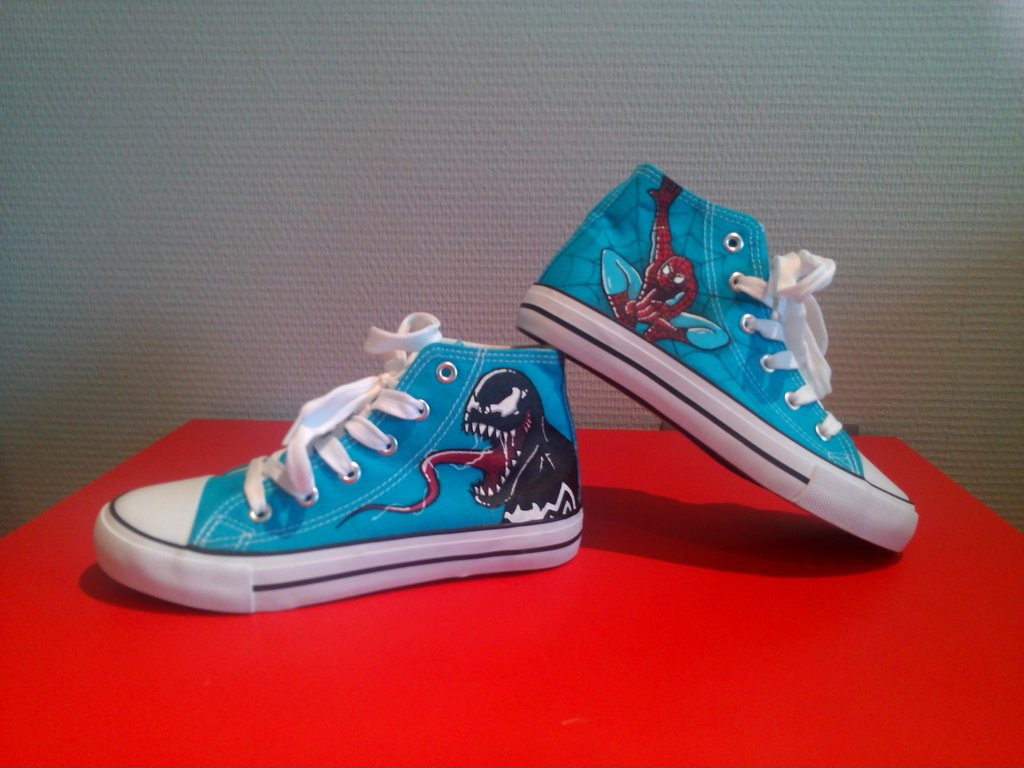 Spiderman and Venom Shoes