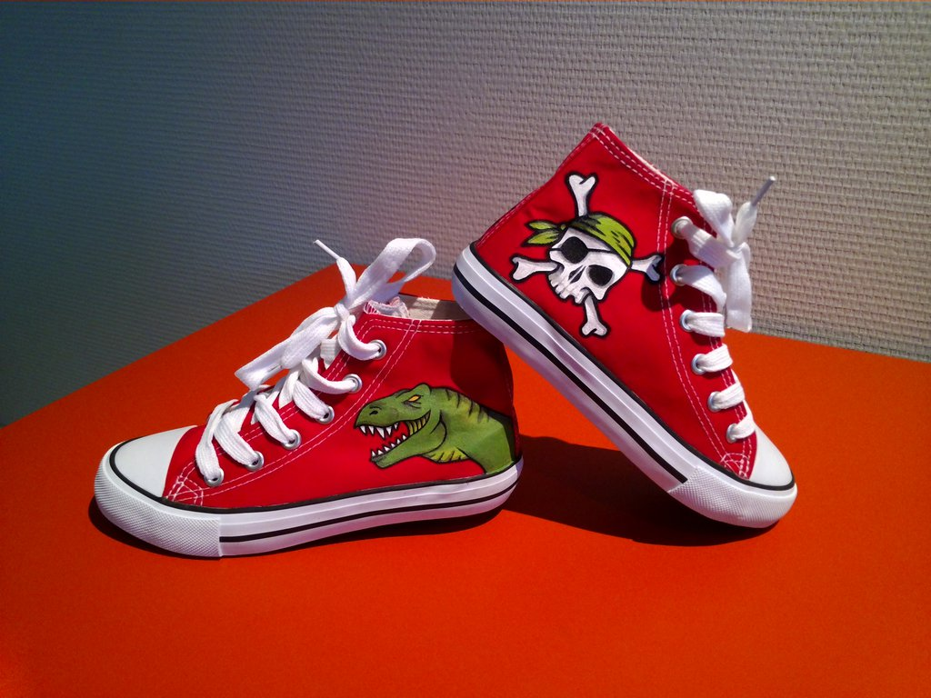 T-rex and Pirate Shoes